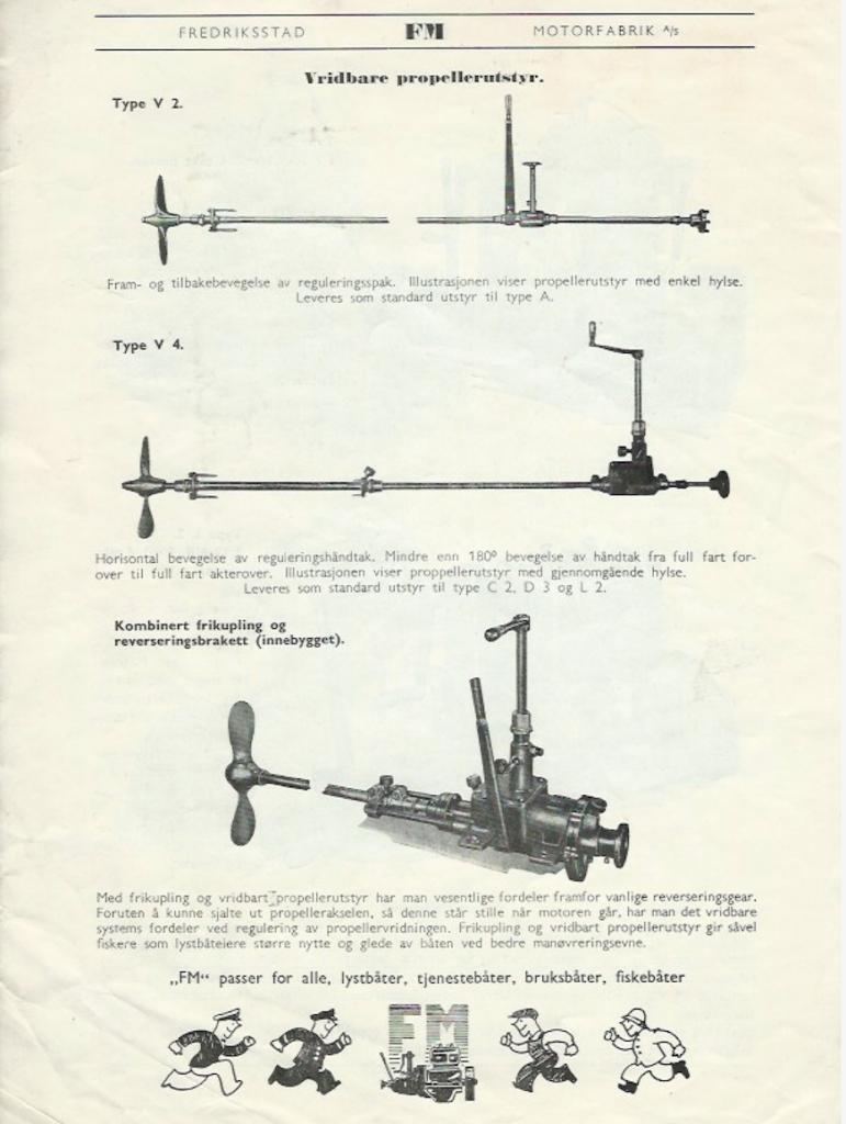Bilde og beskrivelse av propell- og gir anlegg
