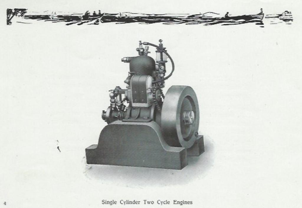 En sylinder, to-takts motor
