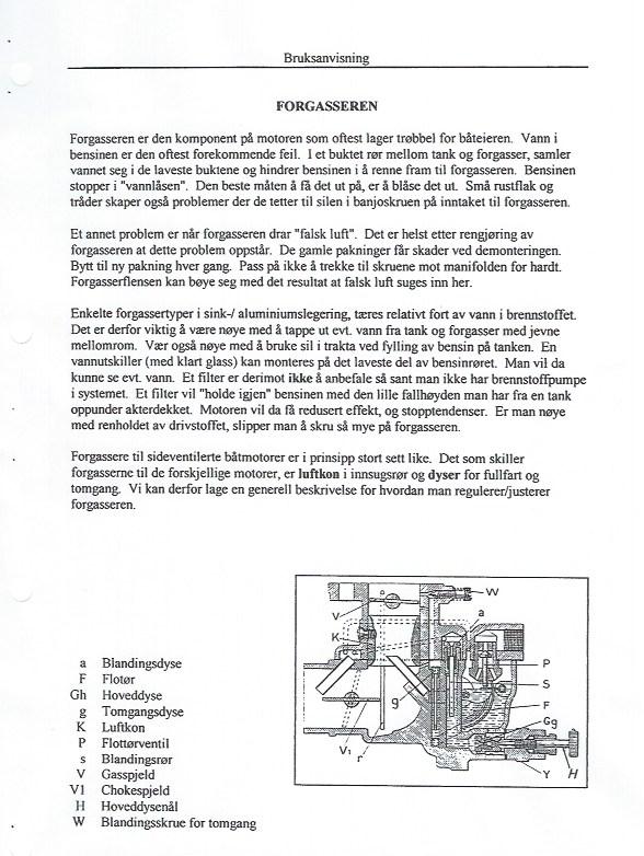 Beskrivelse av forgasser