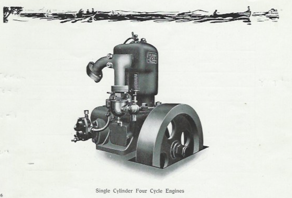 FM-motor, 1 sylinder, 4 taks motor